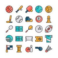 Sport icon set vector flat line for website mobile app presentation social media Suitable for user interface and user experience