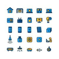 Smart icon set vector flat line for website mobile app presentation social media Suitable for user interface and user experience