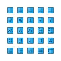 Text Editor icon set vector flat line for website mobile app presentation social media Suitable for user interface and user experience