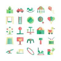 Playground icon set vector flat for website mobile app presentation social media Suitable for user interface and user experience