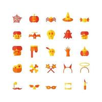 Halloween icon set vector flat for website mobile app presentation social media Suitable for user interface and user experience