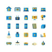 Smart Home icon set vector flat for website mobile app presentation social media Suitable for user interface and user experience