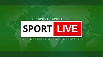 Sport live intro 4K video