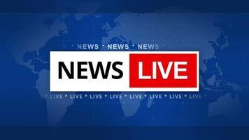 News live intro 4K video