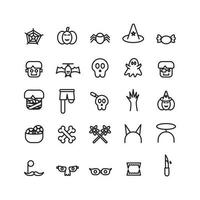 Halloween icon set vector line for website mobile app presentation social media Suitable for user interface and user experience