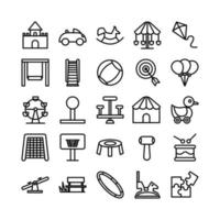 Playground icon set vector line for website mobile app presentation social media Suitable for user interface and user experience
