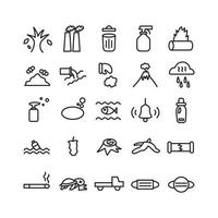 Politic icon set vector line for website mobile app presentation social media Suitable for user interface and user experience