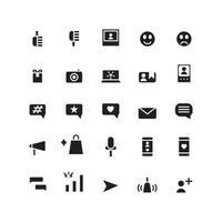 Influencer icon set vector solid for website mobile app presentation social media Suitable for user interface and user experience
