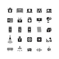 Smart Home icon set vector solid for website mobile app presentation social media Suitable for user interface and user experience