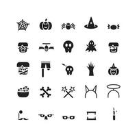 Halloween icon set vector solid for website mobile app presentation social media Suitable for user interface and user experience