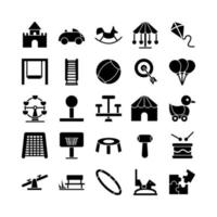 Playground icon set vector solid for website mobile app presentation social media Suitable for user interface and user experience