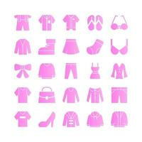 Fashion icon set vector gradient for website mobile app presentation social media Suitable for user interface and user experience