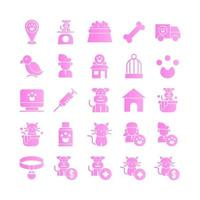 Pet icon set vector gradient for website mobile app presentation social media Suitable for user interface and user experience