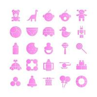 Baby Toys icon set vector gradient for website mobile app presentation social media Suitable for user interface and user experience