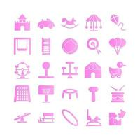 Playground icon set vector gradient for website mobile app presentation social media Suitable for user interface and user experience