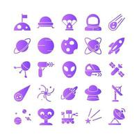 Astronomy icon set vector gradient for website mobile app presentation social media Suitable for user interface and user experience