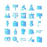 President icon set vector gradient for website mobile app presentation social media Suitable for user interface and user experience