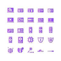 Programming icon set vector gradient for website mobile app presentation social media Suitable for user interface and user experience