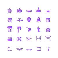 Halloween icon set vector gradient for website mobile app presentation social media Suitable for user interface and user experience