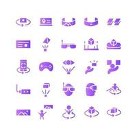 Virtual Reality icon set vector gradient for website mobile app presentation social media Suitable for user interface and user experience