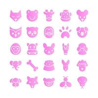 Animal icon set vector gradient for website mobile app presentation social media Suitable for user interface and user experience