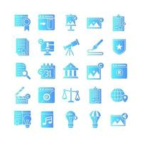 Copyright icon set vector gradient for website mobile app presentation social media Suitable for user interface and user experience