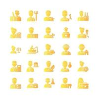 Profession icon set vector gradient for website mobile app presentation social media Suitable for user interface and user experience