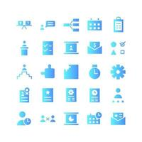 Project Management icon set vector gradient for website mobile app presentation social media Suitable for user interface and user experience