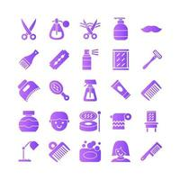 barber icon set vector gradiente para la presentación de la aplicación móvil del sitio web redes sociales adecuadas para la interfaz y la experiencia del usuario