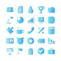 Office icon set vector gradient for website mobile app presentation social media Suitable for user interface and user experience