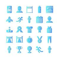 Running icon set vector gradient for website mobile app presentation social media Suitable for user interface and user experience