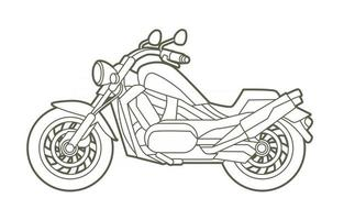 Outline Motorbike Motorcycle Chopper vector