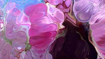 difusão de tinta de água abstrata explodir arte video