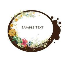 abstract illustration floral frame vector