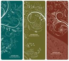 vector abstract floral banners set