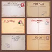 Vector Vintage Postcards