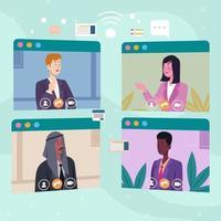 Business Virtual Meeting vector