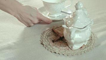 Table setting side view video