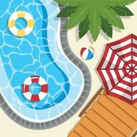 Swimming Pool during Summer vector