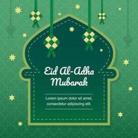 Ketupat Eid Al Adha Background vector