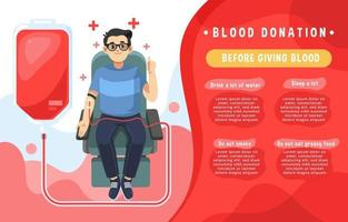Blood Donation Simple Infographic vector