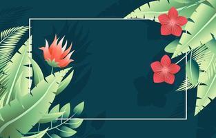 Summer Tropical Flower Plants Background vector
