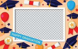 Graduation Photobooth Template vector