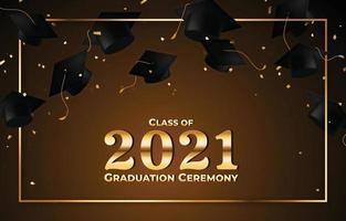Graduation Caps Ceremony Background vector