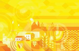 Abstract City Landscape Composition vector