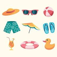 Summer Swimming Icon Pack vector