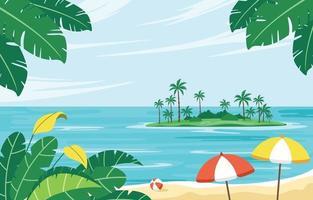 Island Beach Summer Background vector