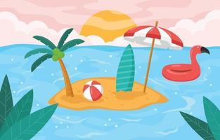 concepto de fondo de vacaciones de verano vector