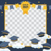 Graduation Background Photo Frame vector