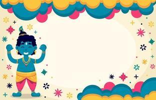 Colorful Janmashtami Celebration Background vector